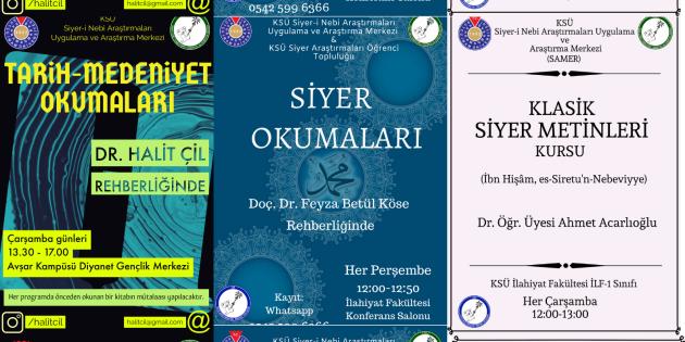 SAMER'den yeni yarıyılda üç ayrı okuma programı